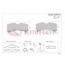Колодки (передн.) тормозные Mercedes Actros OM541/542
