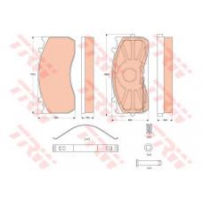 Колодки тормозные  Atego R 17,5. Комплект