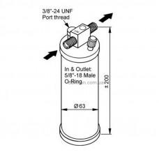 Фильтр осушитель кондиционера DAF 105