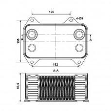 Масляный радиатор Truck Daf CF
