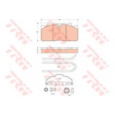 Колодки тормозные DAF LF 45 комплект