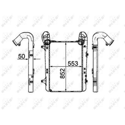 Интеркулер без рамы (сота) DAF XF 105