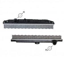 Радиатор охлаждения без рамы DAF XF 105