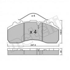 Колодки тормозные дисковые R22,5 DAF XF 105