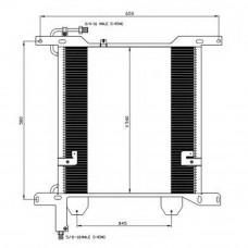 Радиатор кондиционера DAF XF 95